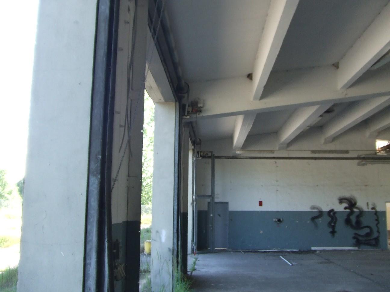 Mehlschwalbennest in einer Fahrzeughalle