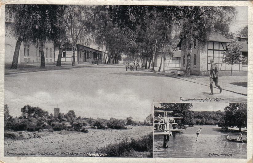 Postkarte von 1939 mit Foto von Badebetrieb