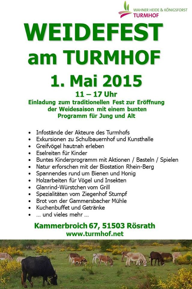 Heideportal Turmhof | Aktuelle Meldung: Weidefest am 1. Mai