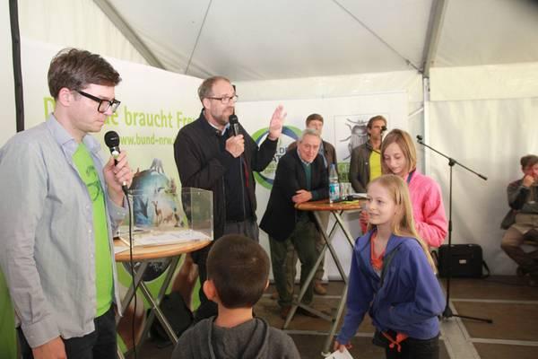 Ralph Caspers (WDR), Christoph Kucklick (GEO-Chefredakteur), Horst Becker (Staatssekretär Umweltministerium NRW)
