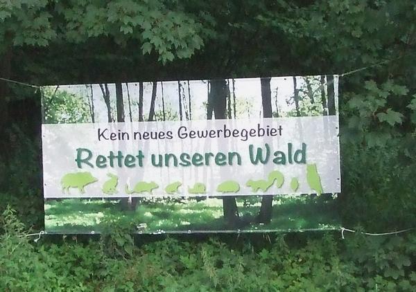 Banner der BI Frankenforst