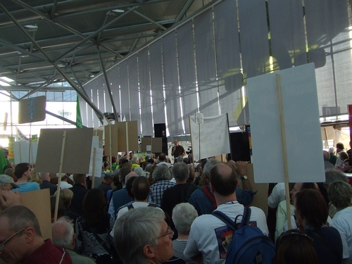 Anti-Flughafendemo im März 2012