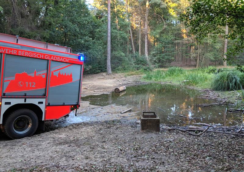 Feuerwehreinsatz am Hasselbachteich