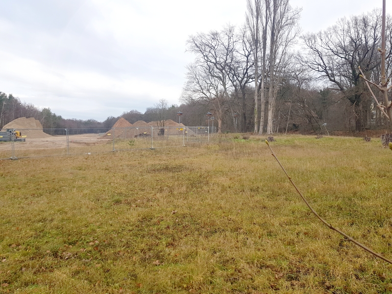Blick von Süden auf ehemaliges Lager Lind