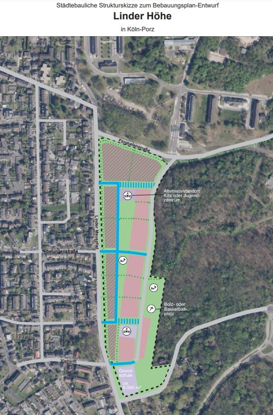 Strukturskizze aus aktuellem B-Planentwurf der Stadtverwaltung