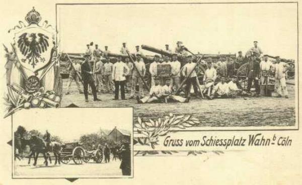 Postkarte vom Schießplatz Wahn